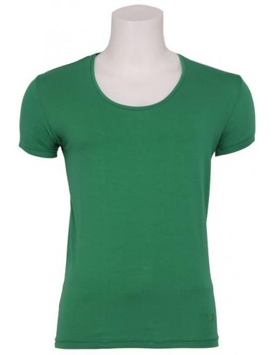 Zumo - Stuart - Wide O-neck T-shirt green - Basics - T-shirts - Groen