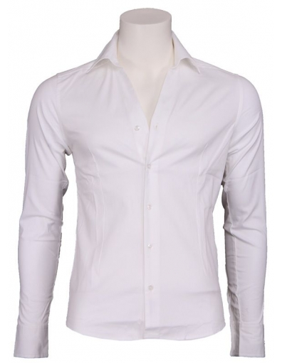 Zumo - Libero - Shirt v-neck wh. - Overhemden - Wit