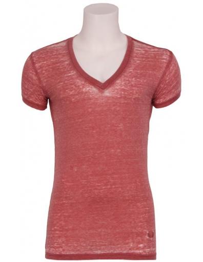 Zumo - Jimmy v-neck LB - T-shirts - Rood