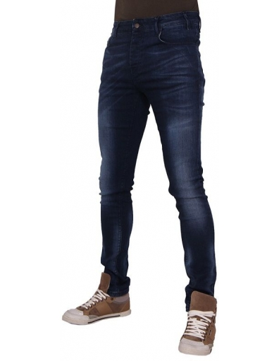 Zumo - Pete - Pants Dark Fancy Denim -  - Blauw