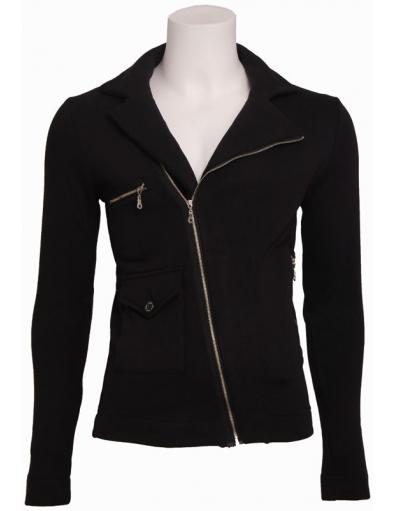 Zumo - April - Sweat Jacket - Truien & Vesten - Zwart