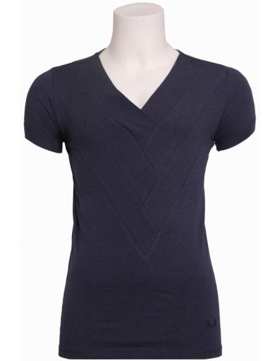 Zumo - 5003 Corsley - T-shirt s/s triple V - T-shirts - Blauw