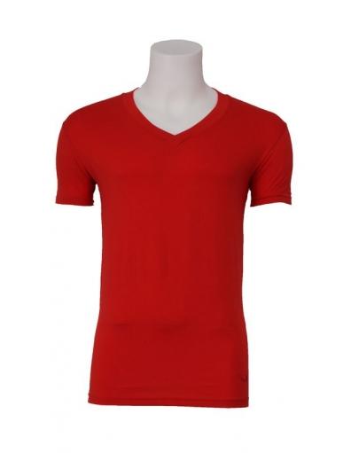 Zumo basic t-shirt - Marbelle - Rood - Red