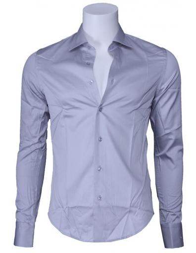 Overhemd Zumo - Doron slim fit - Light Grey