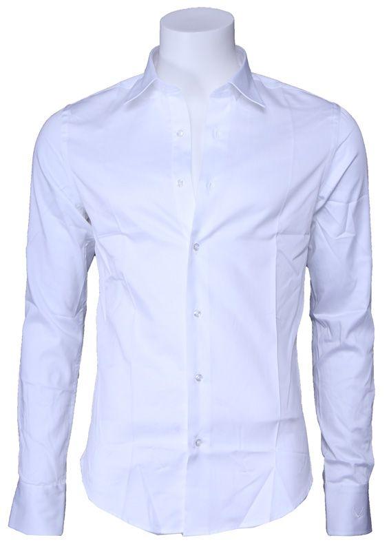 Slim Fit Wit Overhemd.Overhemd Zumo Doron Slim Fit Wit White Zumo Shop