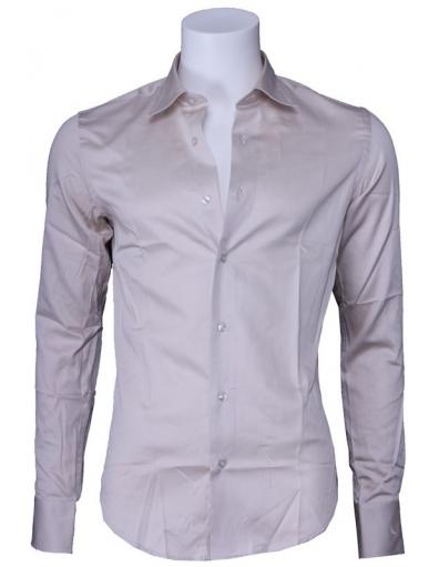 Overhemd Zumo - Doron slim fit - Beige