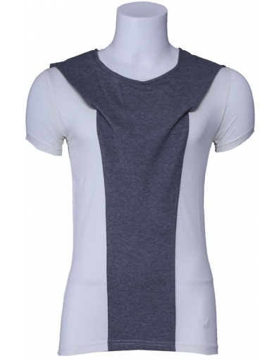 Zumo t-shirt - Adelmo - ecru / grijs