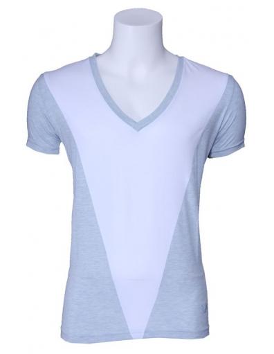Zumo t-shirt - Beppe - Wit / lichtblauw